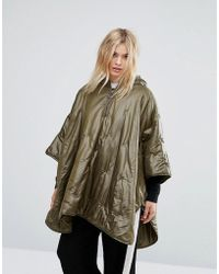MAX&Co. | Max&co Quilted Poncho Coat | Lyst