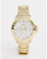 BOSS 1502445 Premiere Bracelet Watch In Gold - Metallic