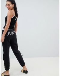 Juicy Couture Joggers With Logo And Lace Up Detail - Black