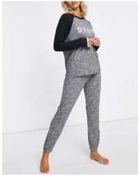 DKNY Conjunto gris jaspeado