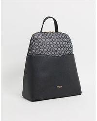Dune – Dorking – er Backpack mit Monogramm - Schwarz