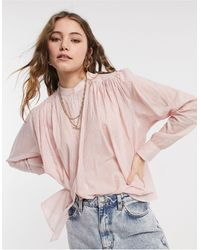 Maison Scotch Lightweight Pleated Cotton Shirt - Pink