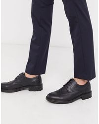 Jack & Jones Faux Leather Brogues With Chunky Sole - Multicolour