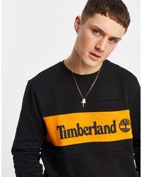 Timberland Cut & Sew Chest Logo Sweatshirt - Black