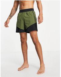 adidas Originals - Шорты Из Технологичной Ткани Цвета Хаки И Черного Цвета Adidas Yoga-зеленый - Lyst
