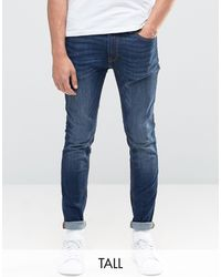 Jack & Jones Intelligence Liam Skinny Fit Jeans - Blue