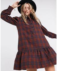 ONLY Mini Shirt Dress With Pephem - Multicolor