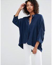 WÅVEN Mia Oversized Shirt - Blue