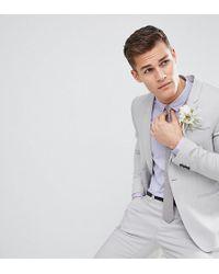 Noak Skinny Wedding Suit Jacket - Blue