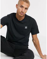 adidas Originals Черная Футболка Essentials-черный