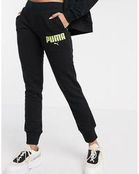PUMA Smalle joggingbroek - Zwart