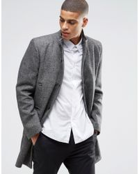 SELECTED Elected Mosto Wool Mix Smart Coat - Black