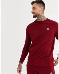 adidas Originals Sweat-shirt avec petit logo brodé - Bordeaux - Rouge
