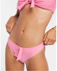 Vero Moda Розовые Плавки Бикини С Бантом -розовый