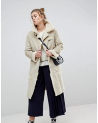 Moon River - Fleece Lined Duffle Coat - Lyst