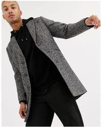 ASOS Wool Mix Overcoat - Grey