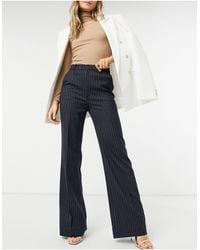 & Other Stories Co-ord Pinstripe Flare Pants - Blue