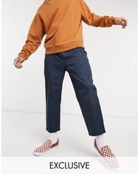 Reclaimed (vintage) Pantaloni corti comodi blu navy