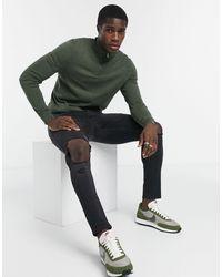 Burton Organic Knitted Half Zip Jumper - Green