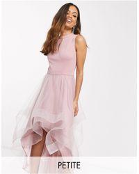 Chi Chi London Асимметричное Платье Для Выпускного Из Органзы -мульти - Розовый