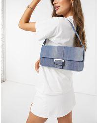 Monki Reya Denim Shoulder Bag - Blue