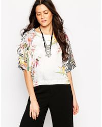 Liquorish - Top In Tropical Zebra Print - Lyst