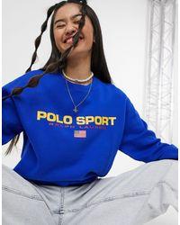 Polo Ralph Lauren Sudadera azul con el logo Sports