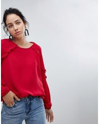 B.Young - Ruffle Sleeve Blouse - Lyst
