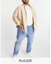 TOPMAN Organic Cotton Blend Big Stretch Skinny Jeans - Blue
