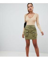 PrettyLittleThing Cargo Pocket Mini Skirt - Green