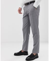 ASOS Slim Smart Trousers - Grey