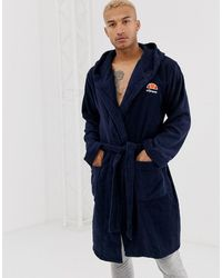 Ellesse - Daride Dressing Gown With Embroidered Logo - Lyst