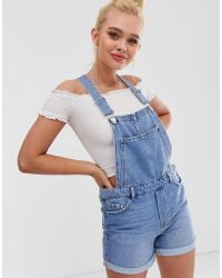 Pimkie - Short Dungaree In Blue - Lyst