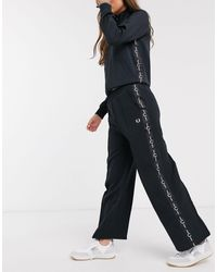 Fred Perry Taped Wide Leg Pant - Black