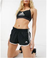 adidas Originals Черные Шорты С Тремя Полосками Adidas Running-черный Цвет