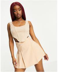 Fashionkilla Укороченный Топ-корсет Песочного Цвета -коричневый Цвет - Многоцветный