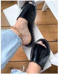 Vero Moda Sandales vernies - Noir