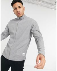 SELECTED Zip Through Sweat With High Neck - Grey