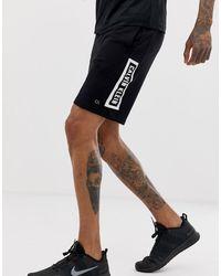 Calvin Klein Черные Трикотажные Шорты С Логотипом - Черный