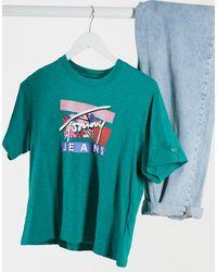 Tommy Hilfiger Зеленая Футболка С Фирменным Логотипом -зеленый