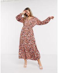 ASOS Long Sleeve Maxi Dress - Multicolour