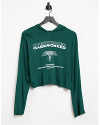 Adolescent Clothing Lounge Overworked Hoodie - Green