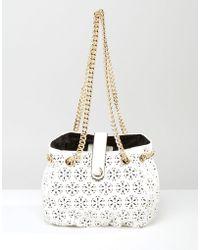 Little Mistress | Laser Cut Detail Bag With Chain | Lyst