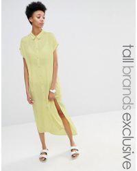 ADPT - Side Split Short Sleeve Shirt Dress - Lyst