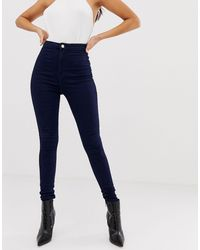 Missguided Vice High Waisted Super Stretch Skinny Jean - Blue