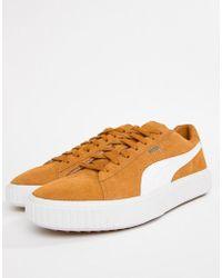16a1f6ef7f1 Lyst - PUMA Breaker Suede Gum Sneakers In White 36607902 in White ...