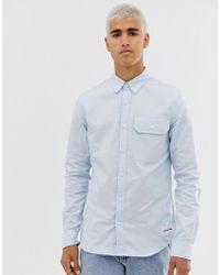 Calvin Klein - Camisa Oxford de corte slim - Lyst