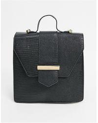 ASOS Backpack With Hardware Detail - Black