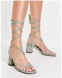 Miss Selfridge Strappy Heeled Sandals - Green