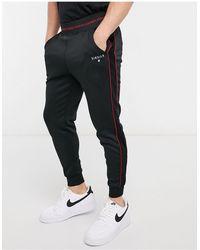 SIKSILK Cuffed sweatpants - Black